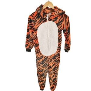 George Tiger Fleece One Piece Pyjama Set M